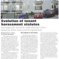 The evolution of tenant harassment statutes