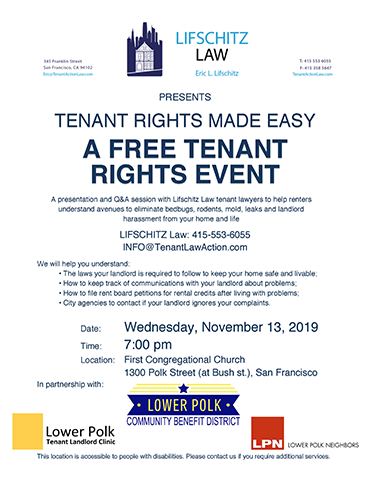 Tenant Rights Made Easy Seminar Event